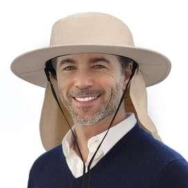 Sombrero Pesquero Pescador Safari Australiano Gorro Playa Sol Cuello Bush Pescador