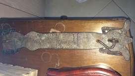 Aldaba antigua Forjada cerradura cerrojo alforja grande