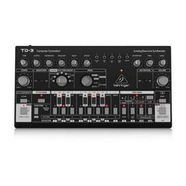 Sintetizador Behringer TD-3-BK Music Box Colombia Analogo Oscilador Secuenciador midi usb Negro
