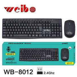 COMBO TECLADO INALAMBRICO RECEPTOR USB WEIBO 8012