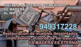 LAQUEADO DE MUEBLES DE MADERA RENOVACION RESTAURACION