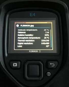 Flir E4 con actualización software y resolución a Flir E8.  320x 240