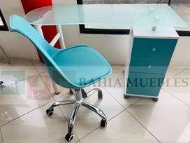 Juego escritorio y silla giratoria manicure pedicure peluquería hogar