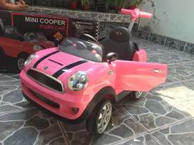 Minicooper Push car rosado