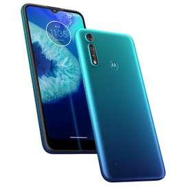 Motorola g 8 power azul, negro y gris