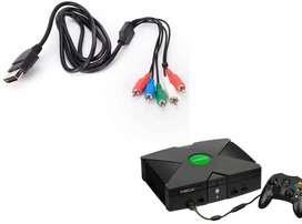 Cable Alta Definición HD por Componentes Para Xbox Negro, Clasico.