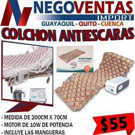 COLCHON ANTIESCARAS CON BOMBA DE PRESION