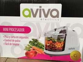 Mini prosesador de alimentos marca ALIVIA nuevo