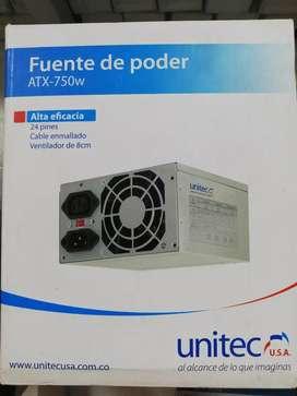 Fuente de poder ATX - 750w Nueva