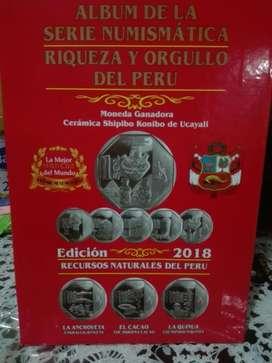 Album de Colección de Monedas Peru