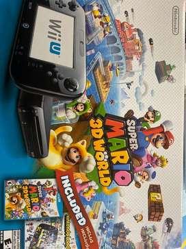 Wii U Super Mario 3D world deluxe set +un control remoto+7 juegos