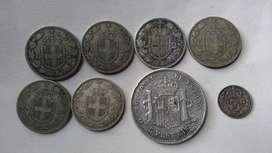 Colección de monedas de Plata Italia, España y Inglaterra