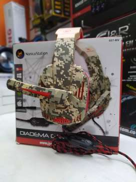 Diadema gamer camuflada