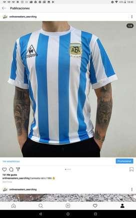 Camiseta Argentina Retro 1986