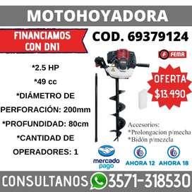 MOTOHOYADORA  2.5 HP 49CC 200MM DIAMETRO 80CM PROF