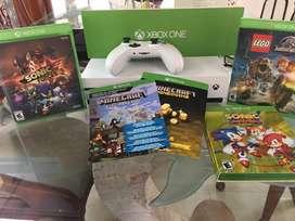 se vende xbox one s con juegos originales