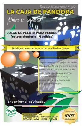 JUEGO DE PELOTA PARA PERROS <<La caja de pandora (pelota aleatoria - 4 salidas)>>