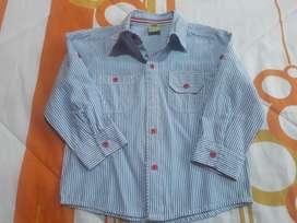 Camisa Kids Manga Larga T: 24 A36m Nuevo