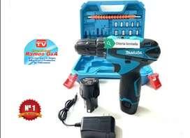 Taladro atornillador makita 12 voltios reversible oferta limitada full accesorios
