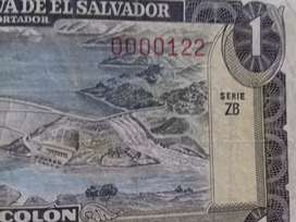 Billete de 1 colon specimen 0000122