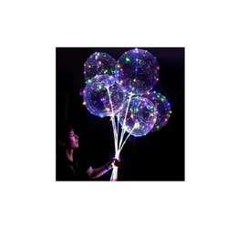 Globo burbuja transparente con luces micro led
