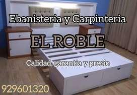Carpinteria, ebanisteria, muebles en general ; madera melamina