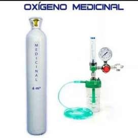 Tanque de oxígeno con regulador