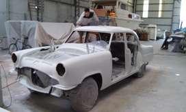 Mercury Monterrey 54, en restauracion , recin pintado
