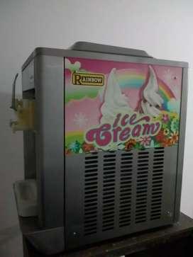 Maquina para helados y congelador