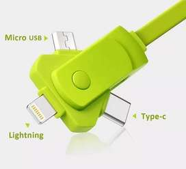 Cable Micro Usb Apple Lightning Android C Laptop Celular S/15