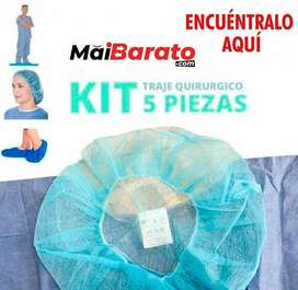 Kit traje quirúrgico 5 piezas importado 