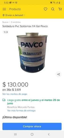Soldadura pavco soldamax pvc color