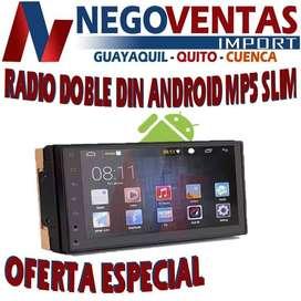 RADIO PANTALLA ANDROID DE 7 PULGADAS DOBLE DIN MP5 SLM