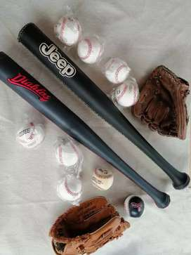 Kit de Béisbol Bate con Forro+Guante+Pelota Nuevo