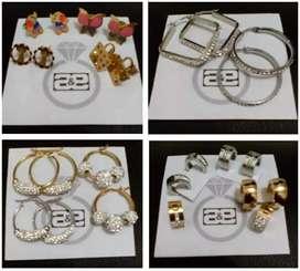 Aretes, Candongas, anillos en acero...desde $5.000