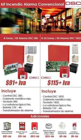 Kit Convencional de Incendio / Central 585 - 1832 Hagroy para Oficinas o Pequeñas Microempresas -  Asesoria, Instalación