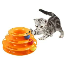 Juguete Para Gato Tres Niveles Para Diversión Oferta!!!