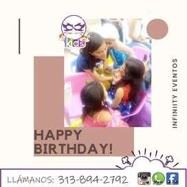 Recreadores para fiestas de cumpleaños, piñata, baile dirigido, actividades juegos mini competencias económicos