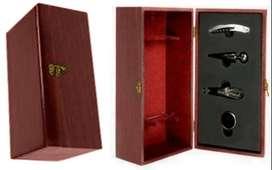 Caja Madera X 4 Accesorios+grabado Personalizado Laser