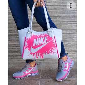 Tenis Nike airmax dama y bolso