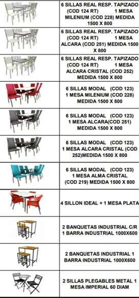 vendo juego de comedor 6 sillas  juegos de bar