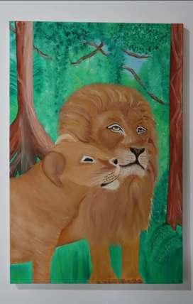 Se pintan cuadros al óleo sobre lienzo originales