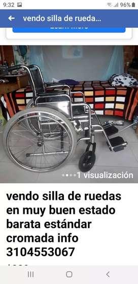 Vendo silla de ruedas para adulto muy barata en  perfecto estado