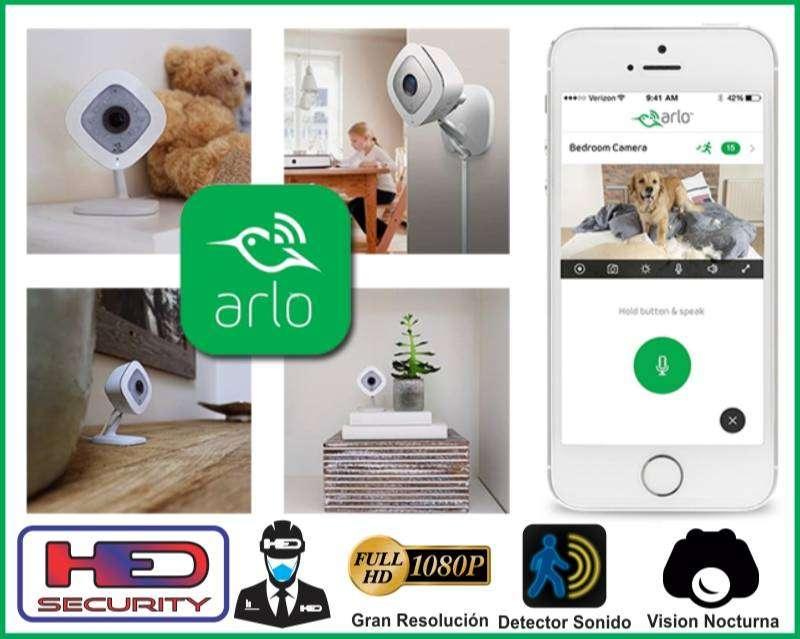 ARLO Q, 1080p, audio bidireccional, Almacenamiento Nube gratuita  y visión nocturna  HED SECURITY  HED ELECTRONICS