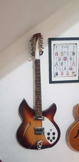 Guitarra rickenbacker de 12 cuerdas de luthier vendo/permuto