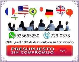 Traducciones en Lima