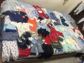 Lote de ropa de bebe talla recien nacido a la talla1