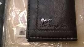 Billetera Jing Pin Negra Compacta 7,2 X 10,4 Cm