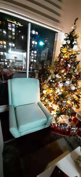 Linda y cómoda silla poltrona