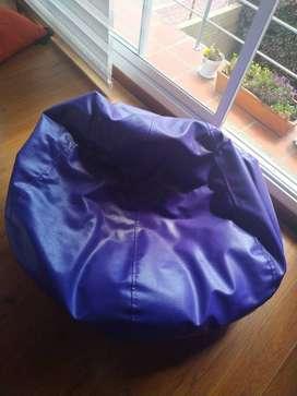 Silla Puff Balón sofá Redondo – Lona Premium Alta Resistencia y Refill